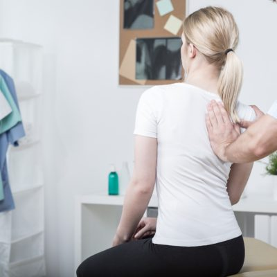 A woman getting help for sport injuries in Weston